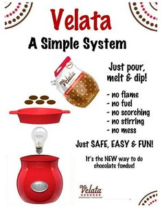 Velata...Yummy, Fun & Easy. Contact me for all your Velata needs!! http://sweetnsalty.velata.us