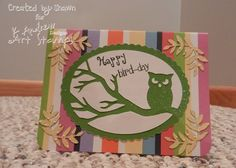 Simply Sunday - Fun with Puns Happy Bird Day, Pumpkin Carvings, Cricut Cards, Puns, Stamps, Card Making, Paper Crafts, Scrapbook, Seasons