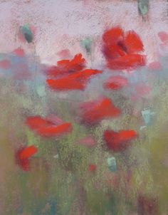 Painting My World: Step by Step Demo: Pastel Poppies in Pictures