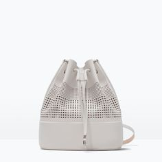 ZARA - WOMAN - PERFORATED BUCKET BAG--love this bag!!!