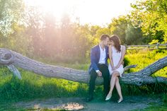 The best light ever at this engagement session atop the Scarborough Bluffs in Toronto.