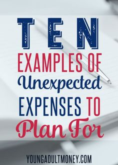 Do unexpected expenses throw your financial situation for a loop? Here are 10 times it pays to plan ahead and what costs you need to consider saving for. Personal Finance #personalfinance