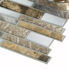 Shop Peel&Stick Mosaics Mountain Terrain Composite Vinyl Mosaic Scale  Indoor Only Peel-And-Stick