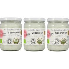 Raw Organic Extra Virgin Coconut Oil - 500ml x3 glass
