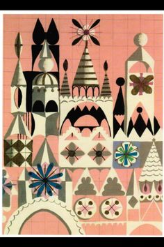 COLOR RELATIVITY ------------- ITTEN ELEMENTS OF COLOR--------Mary Blair - mural artist in Tomorrowland.