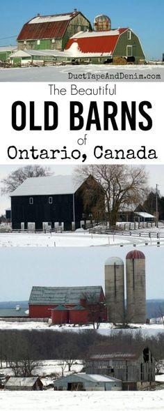 Beautiful old barns of rural Ontario, Canada | DuctTapeAndDenim.com
