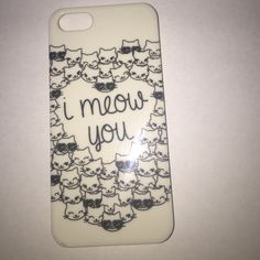 """iPhone 5 or iPhone 5s case iPhone 5 or iPhone 5s """"I meow you"""" with cats in a shape of a heart phone case. some cats on front side of case. From Forver 21 Forever 21 Accessories Phone Cases"""