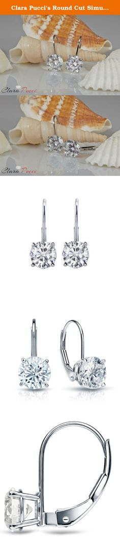Clara Pucci's Round Cut Simulated Diamond CZ 14k White Gold Drop Dangle Earrings, 2.90CT. Clara Pucci is a design, manufacturing and retailer of unique jewelry located in the center of the largest Jewelry District in California. We offer the highest quality jewelry products and materials in a broad range of styles. They are created, designed and manufactured here in Los Angeles and are available at competitive prices. We use a variety of loose stones on our products, which range from…