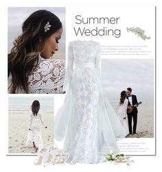 """Say I Do: Summer Weddings"" by bliznec ❤ liked on Polyvore featuring BHLDN, Monique Lhuillier, Oscar de la Renta, summerwedding, polyvoreeditorial and polyvorecontest"