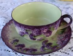 Vintage Flowered Demitasse Haviland Tea Cup And Saucer Collector Set France 6 photo