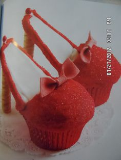 Red Ruby Slippers Cupcakes