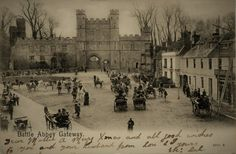Battle Abbey East Sussex from an Edwardian Postcard post marked 1903 Mounted Print