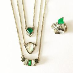Convertible Three Layer Pendant & Matching Ring -http://ift.tt/1OOU5VT #stylish #fashion #jewelry #necklace #ring