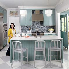 1000 images about kitchens on pinterest painted kitchen for Grey and duck egg blue kitchen