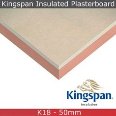 Kingspan Kooltherm K18 Insulated Plasterboard - 1.2m x 2.4m x 62.5mm