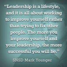 Core leadership philosophy - Set an example! #bealeader #calsae #leadership #leadbyexample