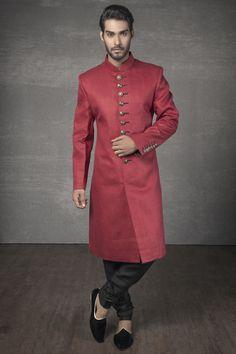 Sherwani Groom, Wedding Sherwani, Indian Men Fashion, Muslim Fashion, Men's Fashion, Groom Fashion, Royal Fashion, Indian Groom Dress, Indian Wear