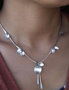 Aspen Rain Necklace, Rose Gold Filled & Sterling — Ai Jewelry