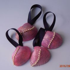 A personal favorite from my Etsy shop https://www.etsy.com/listing/451942680/sea-shell-ornaments-painted-pink-with #spreadthekove