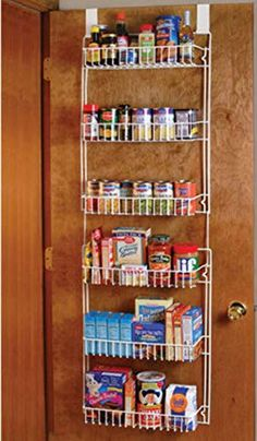 Over the Door Storage Rack Kitchen Pantry Shelf Organizer Spice Space Saver Pantry Shelf Organizer, Pantry Rack, Cabinet Door Storage, Door Organizer, Storage Rack, Storage Shelves, Spice Storage, Cabinet Doors, Pantry Storage