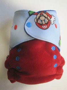 Super Mario cloth diaper:)
