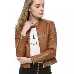 Leather Jacket Women Veste Autumn Fashion Women s Slim black Motorcycle  Leather Jacket Winter Women PU Leather dad95d17a9