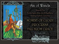 THE Six of Wands TAROT CARD MEANINGS - UPRIGHT