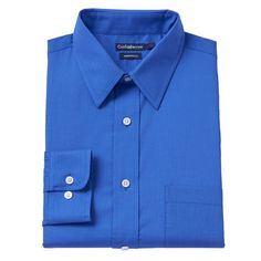 Big & Tall Croft & Barrow Fitted Checked Dress Shirt, Me