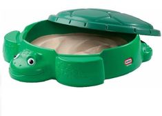 Little Tikes Turtle Sandbox With Cover Round Outdoor Backyard Play Set Plastic  #LittleTikes