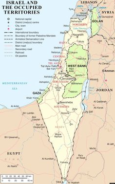 current map of Israel | map of the current breakdown of authority in the Israel/Palestine ...