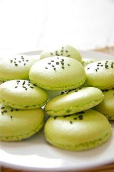 Matcha & Adzuki Bean Macarons