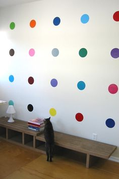 With colors like lemon, cotton candy pink and kiwi, Blik Sweet 16 polka dot decals add delicious color and a sense of fun to any wall. Inspired by British artist Damien Hirst's spot paintings where no