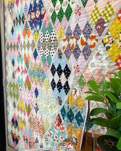 Quilt Stitching, Quilting, Diamond Quilt, Vintage Quilts, Scrap, Textiles, Blanket, Pattern, Treehouse