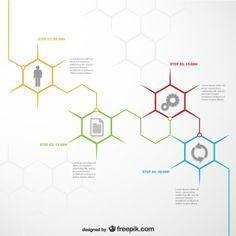 Template infográfico Honeycomb Vetor grátis                                                                                                                                                                                 Mais