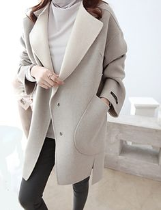simple + neutral // coat from @LightInTheBox