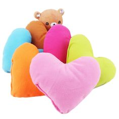 QIYUN.Z Lot of 5 PCs Decoration Pets Small Plush Soft Comfy Heart-Shaped Bed House Pillow Pet Supplies ** Quickly view this special dog product, click the image : Dog Beds and Furniture