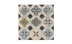 Carrelage DECORO, aspect carreaux de ciment multico, dim 31,6 x 31,6 cm - Carrelage - Collection Sol - Saint Maclou