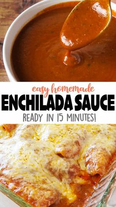 Easy Red Enchilada Sauce is made with just a few simple ingredients, and is more flavorful and healthier than the canned stuff! 😋 Click 🔗 for the full detailed recipe and full video! #enchiladas #easyrecipe #mexicanfoodrecipes #redenchiladasauce #dinner #mexicanrecipes Recipes With Enchilada Sauce, Homemade Enchilada Sauce, Homemade Enchiladas, Red Enchilada Sauce, Authentic Enchilada Recipe, Homemade Tortillas, Vegetarian Recipes Easy, Mexican Food Recipes, Cooking Recipes