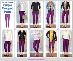 2013 in review - outfit posts: purple cropped pants - Outfit Posts