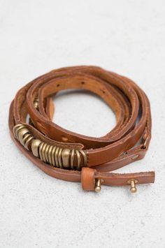 Camel Metal Rings Thin Belt
