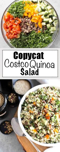 Copycat Costco Quinoa Salad Recipe: Even more fresh, healthy and delicious. Perf… Copycat Costco Quinoa Salad Recipe: Even more fresh, healthy and delicious. Perfect for picnic/ BBQ season, clean eating approved & easy! Whole Foods, Whole Food Recipes, Cooking Recipes, Quoina Recipes, Costco Recipes, Costco Snacks, Costco Cake, Kitchen Recipes, Vegetarian Cooking