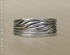 6 Band Puzzle Ring by PuzzleRingMaker  Sterling by PuzzleRingMaker, $24.00