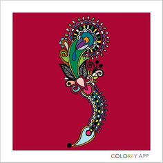 My first adult coloring Coloring Book App, Adult Coloring, Cards, Adult Colouring In, Maps, Playing Cards