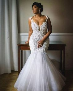 Mermaid Wedding Dresses Sexy Mermaid Wedding Dresses Crew Neck Lace Pearls South African Girl Bridal Gowns · Tobebride · Online Store Powered by Storenvy Antique Wedding Dresses, Plus Size Wedding Gowns, Dream Wedding Dresses, Bridal Dresses, Bridesmaid Dresses, Couture Dresses, Curvy Wedding Dresses, Wedding Dresses Fit And Flare, Dhgate Wedding Dress