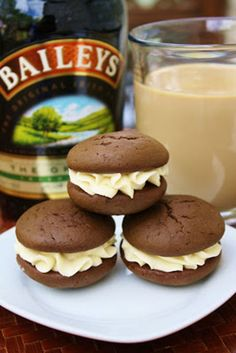 For an intoxicating dessert, try Bailey's Irish Cream sandwiched between two chocolate cookies. Get the recipe at Burn Me Not.