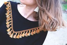DIY sweat customisé avec un galon et des pompons / DIY sweater with tassels // www.cbyclemence.com DIY blog