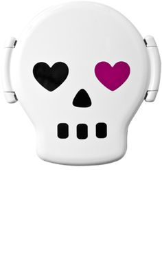 SKULL PLASTIC LUNCH BOX  $10.00  Who will have the coolest lunch box with THIS?! (well, if your kids friend has an old school Goonies or Gremlins, it'll be hard to beat, BUT this still beats both!)  :)