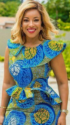 African Dress Ankara Dress Off Shoulder African Midi Dress Latest African Fashion Dresses, African Dresses For Women, African Print Dresses, African Print Fashion, African Attire, African Women, African Prints, Ankara Stil, African Traditional Dresses