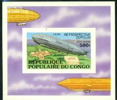 Zeppelin s/s imperforated, Country: Congo (Brazzaville), Year: 1977, Product code: scfpb011b, Nr. Michel: B11B