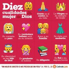 Biblioteca de Catholic-Link - Infografía: 10 cualidades de una mujer de Dios